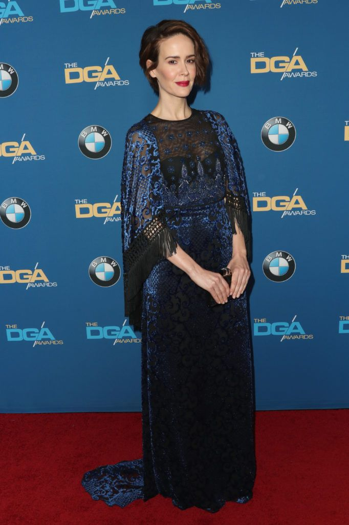 Sarah Paulson attends the 69th Annual Directors Guild of America Awards at The Beverly Hilton Hotel on February 4, 2017 in Beverly Hills, California.  (Photo by Frederick M. Brown/Getty Images)