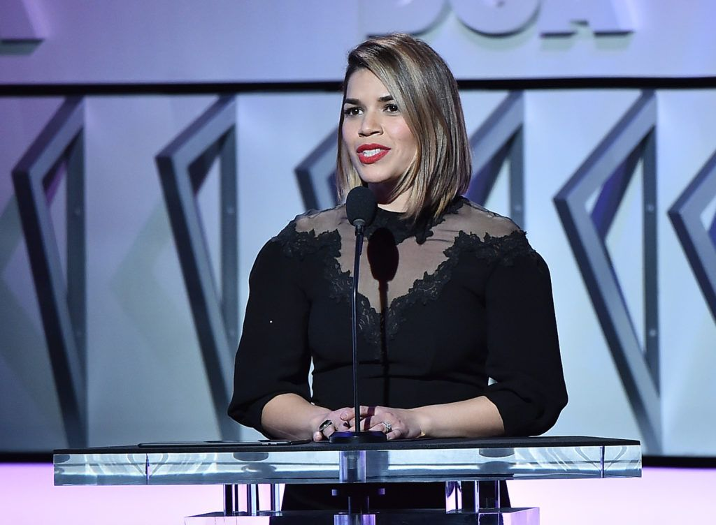 Actress America Ferrera onstage during the 69th Annual Directors Guild of America Awards at The Beverly Hilton Hotel on February 4, 2017 in Beverly Hills, California.  (Photo by Alberto E. Rodriguez/Getty Images for DGA)