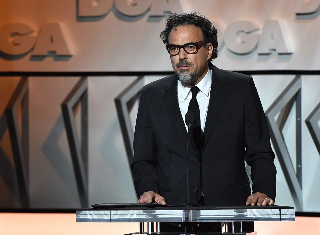 Director Alejandro Gonzalez Inarritu speaks onstage during the 69th Annual Directors Guild of America Awards at The Beverly Hilton Hotel on February 4, 2017 in Beverly Hills, California.  (Photo by Alberto E. Rodriguez/Getty Images for DGA)