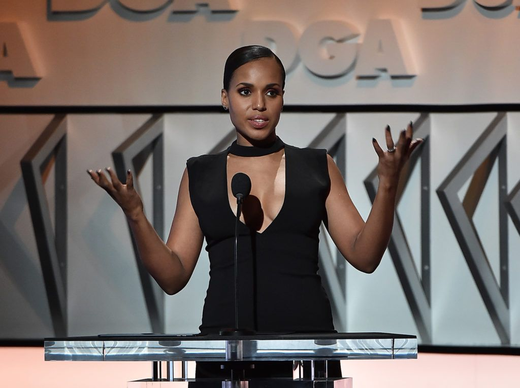 Kerry Washington onstage during the 69th Annual Directors Guild of America Awards at The Beverly Hilton Hotel on February 4, 2017 in Beverly Hills, California.  (Photo by Alberto E. Rodriguez/Getty Images for DGA)
