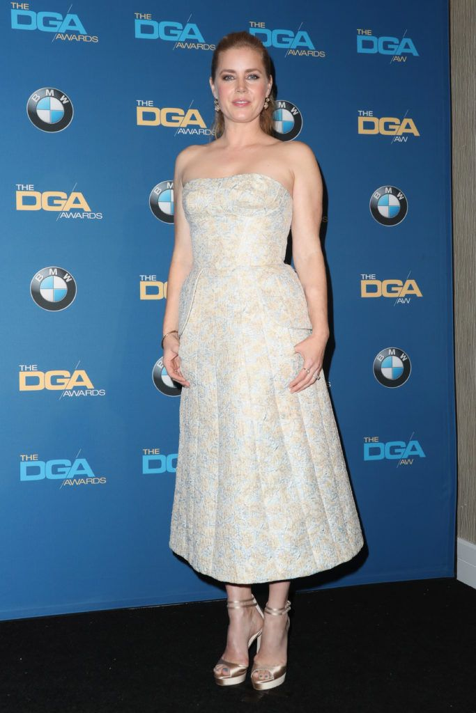 Amy Adams poses in the press room during the 69th Annual Directors Guild of America Awards at The Beverly Hilton Hotel on February 4, 2017 in Beverly Hills, California.  (Photo by Frederick M. Brown/Getty Images)