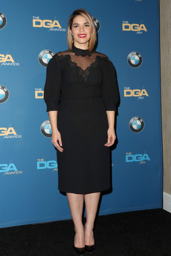 America Ferrera poses in the press room during the 69th Annual Directors Guild of America Awards at The Beverly Hilton Hotel on February 4, 2017 in Beverly Hills, California.  (Photo by Frederick M. Brown/Getty Images)