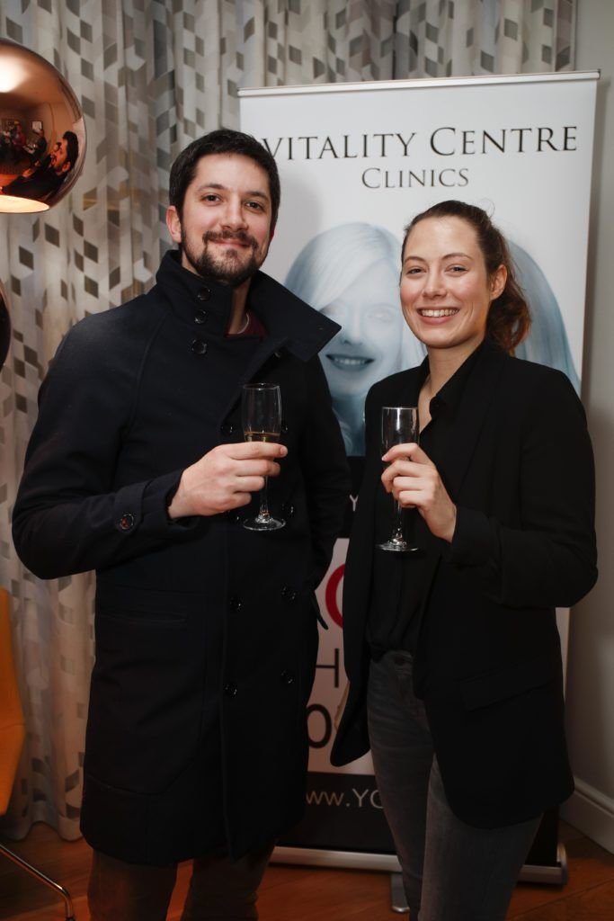 Pictured was Quentin Guivier and Natanais Burban at the launch of Vitality Centres new website www.younger.ie which focuses on a wide range of non surgical skin treatments. Picture Conor McCabe Photography.