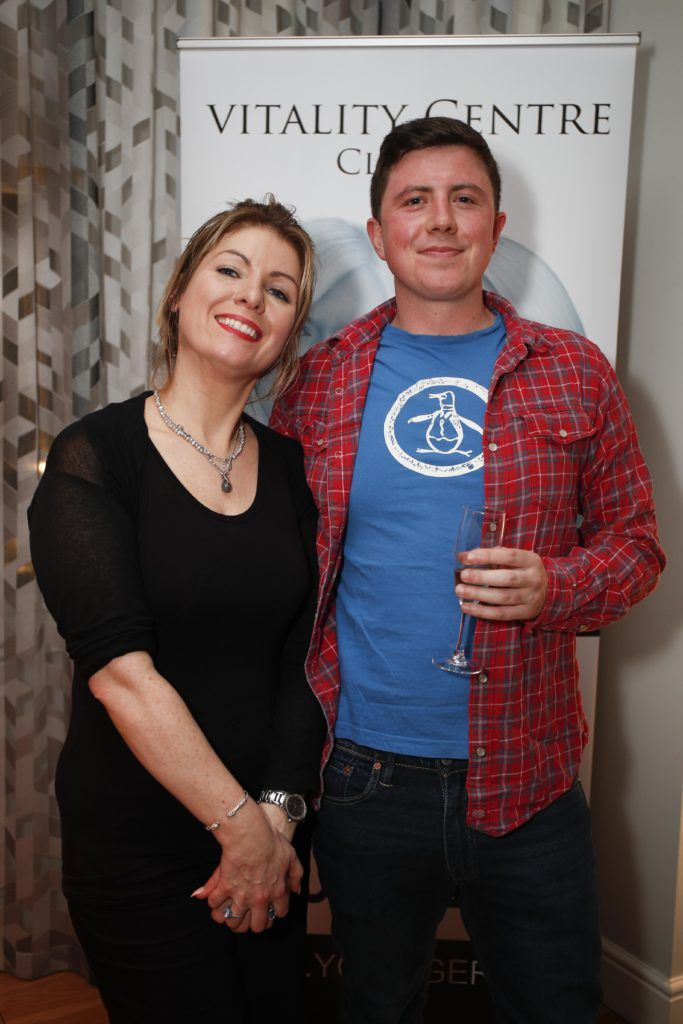 Pictured was Frances Flannery and Jack Farrell at the launch of Vitality Centres new website www.younger.ie which focuses on a wide range of non surgical skin treatments. Picture Conor McCabe Photography.