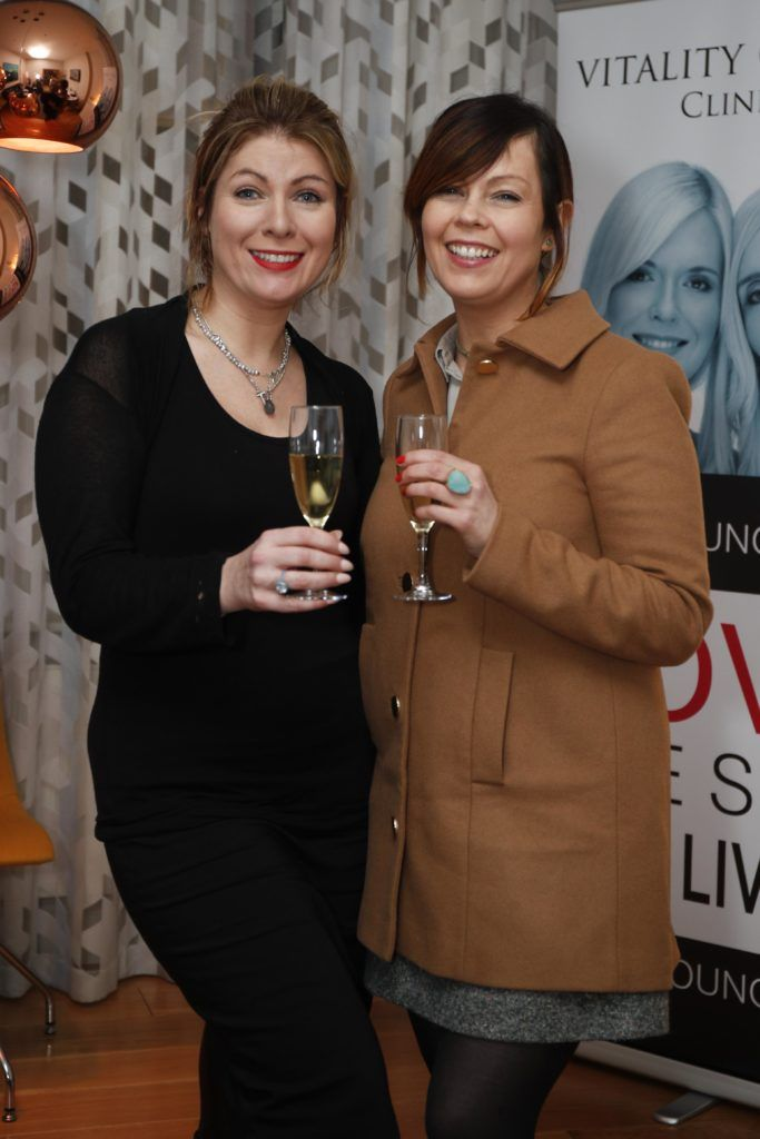 Pictured was sisters Frances and Caroline Flannery at the launch of Vitality Centres new website www.younger.ie which focuses on a wide range of non surgical skin treatments. Picture Conor McCabe Photography.