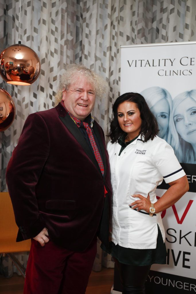 Pictured was Ger Ryan and Karen Ann Connolly at the launch of Vitality Centres new website www.younger.ie which focuses on a wide range of non surgical skin treatments. Picture Conor McCabe Photography.