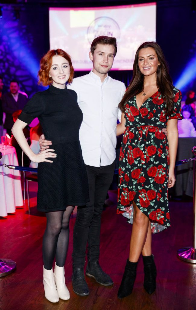 Hannah O'Connell, Stefan Langan and Lisa Nolan pictured at the official launch of Dine in Dublin 2017, the capital's favourite food festival which returns from Monday, 27th February to Sunday, 5th March. Picture Andres Poveda