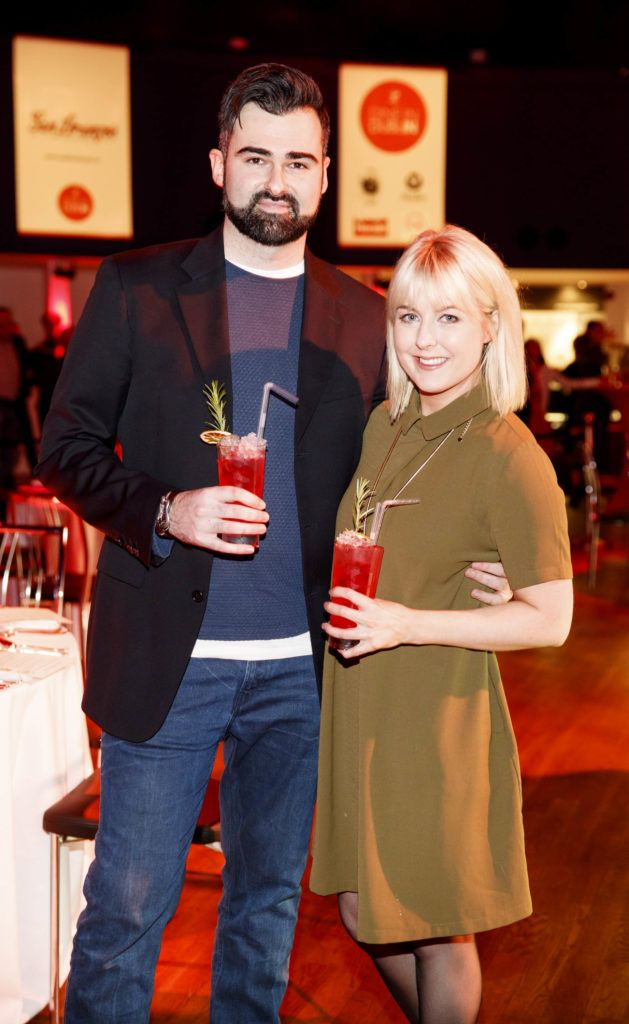 Eamonn Curry and Rebecca Brady pictured at the official launch of Dine in Dublin 2017, the capital's favourite food festival which returns from Monday, 27th February to Sunday, 5th March. Picture Andres Poveda