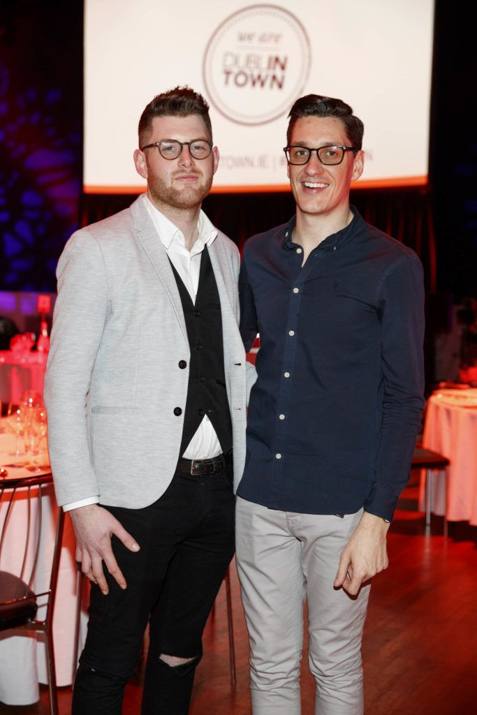 Mark Brennan and Padraic Dillon pictured at the official launch of Dine in Dublin 2017, the capital's favourite food festival which returns from Monday, 27th February to Sunday, 5th March. Picture Andres Poveda