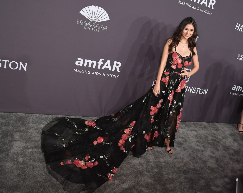 Actress Victoria Justice attends the 19th annual amfAR's New York Gala to kick off NY Fashion Week at Cipriani Wall Street on February 8, 2017 in New York City. (Photo ANGELA WEISS/AFP/Getty Images)