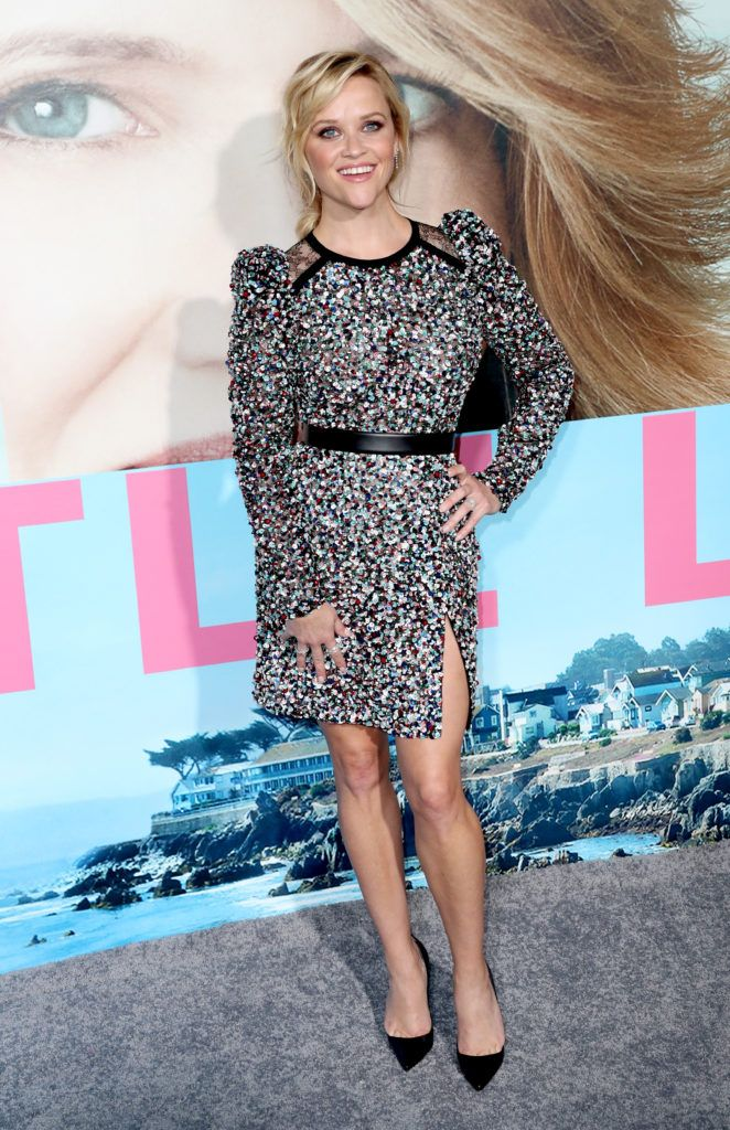 "Reese Witherspoon attends the premiere of HBO's ""Big Little Lies"" at TCL Chinese Theatre on February 7, 2017 in Hollywood, California.  (Photo by Frederick M. Brown/Getty Images)"