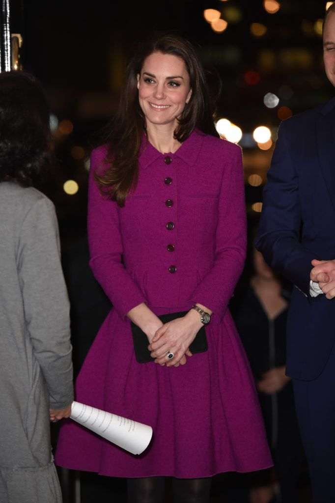 Catherine, Duchess of Cambridge attends The Guild of Health Writers Conference with Heads Together at Chandos House on February 6, 2017 in London, England.  (Photo by Eddie Mulholland-WPA Pool/Getty Images)