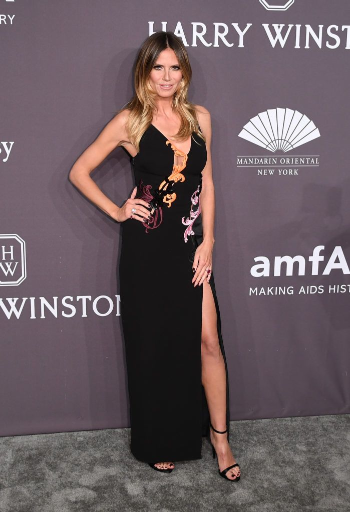 Model Heidi Klum attends the 19th annual amfAR's New York Gala to kick off NY Fashion Week at Cipriani Wall Street on February 8, 2017 in New York City.     (Photo ANGELA WEISS/AFP/Getty Images)