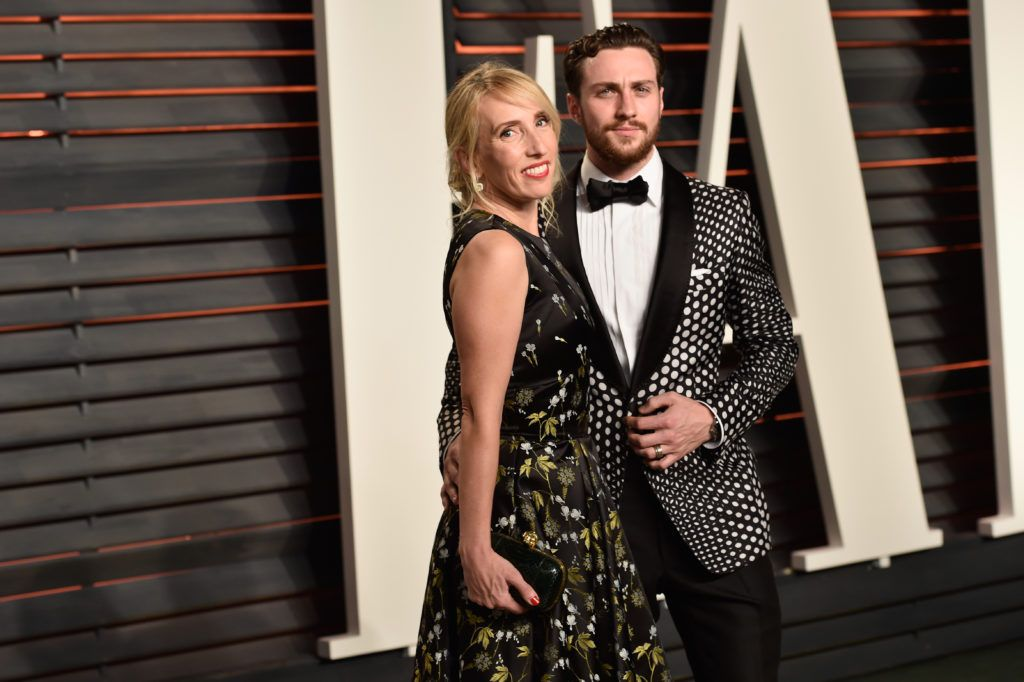 Director Sam Taylor-Johnson (L) and actor Aaron Taylor-Johnson attend the 2016 Vanity Fair Oscar Party Hosted By Graydon Carter at the Wallis Annenberg Center for the Performing Arts on February 28, 2016 in Beverly Hills, California.  (Photo by Pascal Le Segretain/Getty Images)