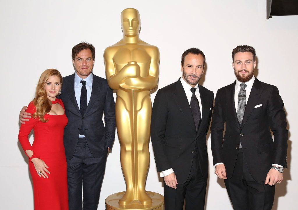 Amy Adams, Michael Shannon, Tom Ford and Aaron Taylor-Johnson attend The Academy of Motion Picture Arts and Sciences Hosts an Official Academy Screening of NOCTURNAL ANIMALS at MoMa Celeste Bartos Theater on November 17, 2016 in New York City.  (Photo by Robin Marchant/Getty Images for Academy of Motion Picture Arts and Sciences)