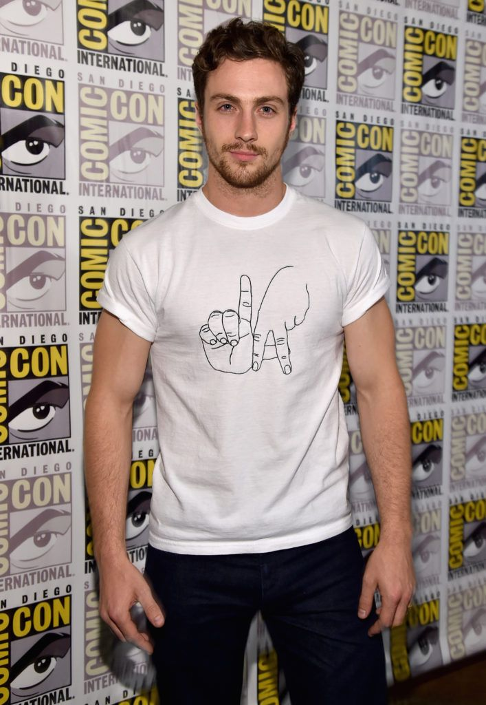 "Actor Aaron Taylor-Johnson attends Marvel's Hall H Press Line for ""Ant-Man"" and ""Avengers: Age Of Ultron"" during Comic-Con International 2014 at San Diego Convention Center on July 26, 2014 in San Diego, California.  (Photo by Alberto E. Rodriguez/Getty Images for Disney)"