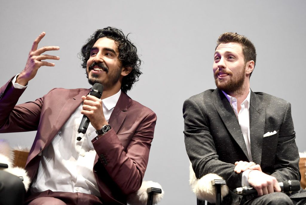 Actors Dev Patel and Aaron Taylor-Johnson speak onstage at the Virtuosos Award presented by UGG during the 32nd Santa Barbara International Film Festival at the Arlington Theatre on February 4, 2017 in Santa Barbara, California.  (Photo by Matt Winkelmeyer/Getty Images for SBIFF)