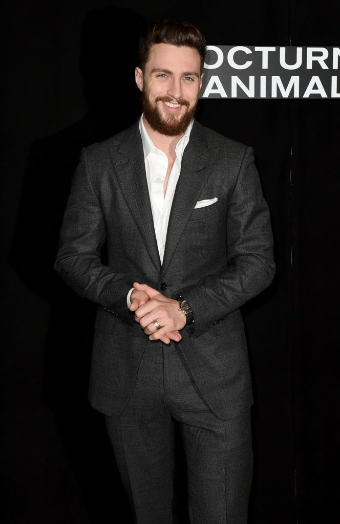 "Aaron Taylor-Johnson attends the photo call for Focus Features' ""Nocturnal Animals"" at Four Seasons Hotel Los Angeles in Beverly Hills on October 28, 2016 in Los Angeles, California.  (Photo by Kevin Winter/Getty Images)"