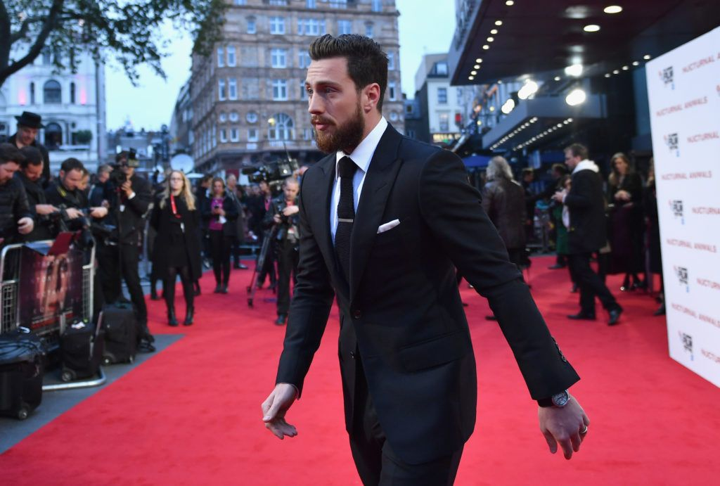 Aaron Taylor-Johnson attends the 'Nocturnal Animals' Headline Gala screening during the 60th BFI London Film Festival at Odeon Leicester Square on October 14, 2016 in London, England.  (Photo by Gareth Cattermole/Getty Images for BFI)