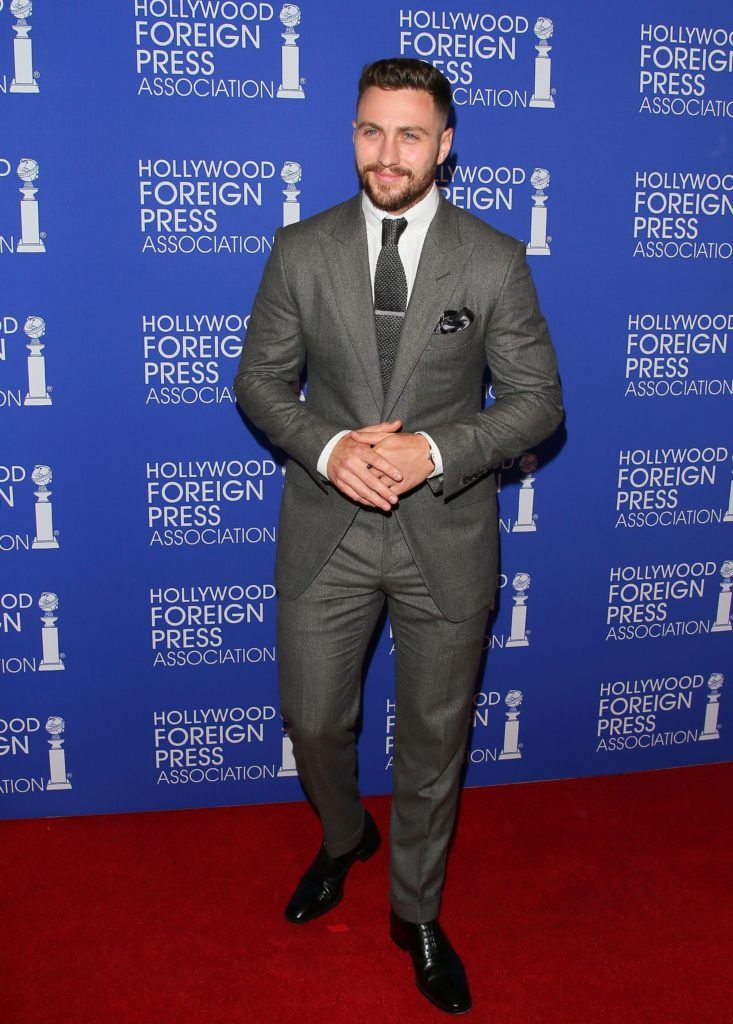 Aaron Taylor-Johnson attends the The Hollywood Foreign Press Association (HFPA) Annual Grants Banquet, in Beverly Hills, California, on August 4, 2016..       (Photo JEAN BAPTISTE LACROIX/AFP/Getty Images)