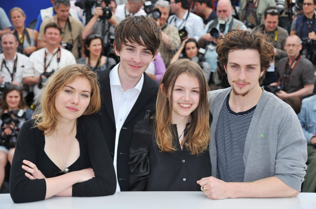 Actors, Imogen Poots , Aaron Johnson, Hannah Murray and Matthew Beard attend the 'Chatroom' Photocall at the Palais des Festivals during the 63rd Annual Cannes Film Festival on May 14, 2010 in Cannes, France.  (Photo by Pascal Le Segretain/Getty Images)