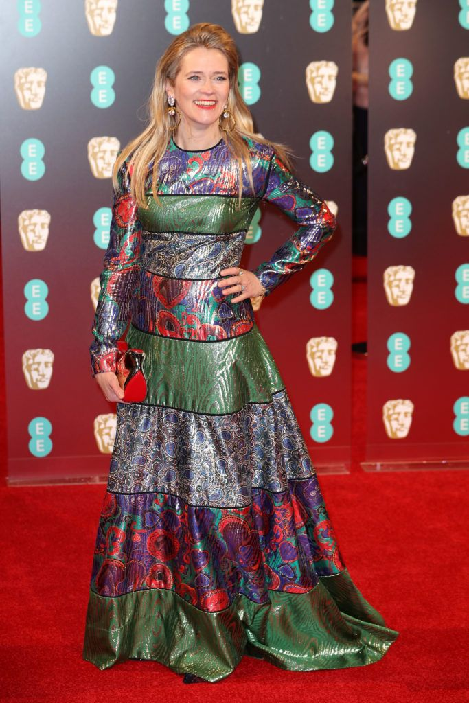 LONDON, ENGLAND - FEBRUARY 12:  Edith Bowman attends the 70th EE British Academy Film Awards (BAFTA) at Royal Albert Hall on February 12, 2017 in London, England.  (Photo by Chris Jackson/Getty Images)