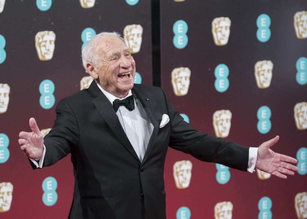 LONDON, ENGLAND - FEBRUARY 12:  Mel Brooks attends the 70th EE British Academy Film Awards (BAFTA) at Royal Albert Hall on February 12, 2017 in London, England.  (Photo by John Phillips/Getty Images)