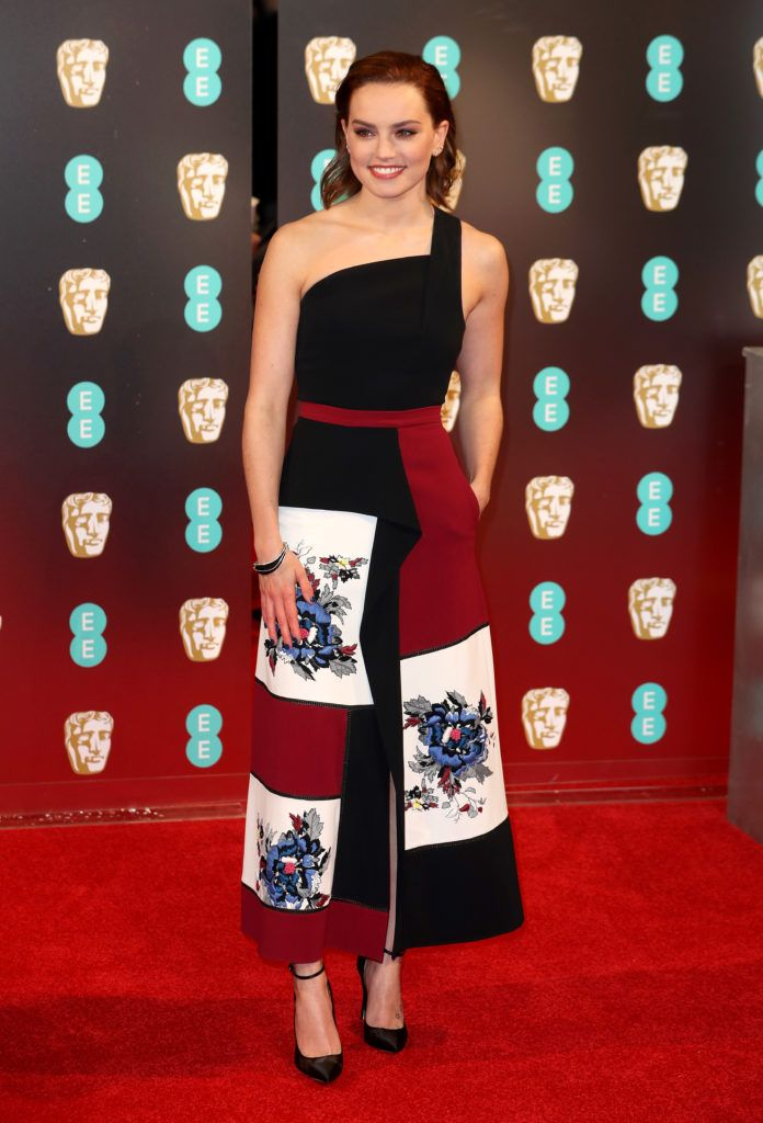LONDON, ENGLAND - FEBRUARY 12:  Daisy Ridley attends the 70th EE British Academy Film Awards (BAFTA) at Royal Albert Hall on February 12, 2017 in London, England.  (Photo by Chris Jackson/Getty Images)