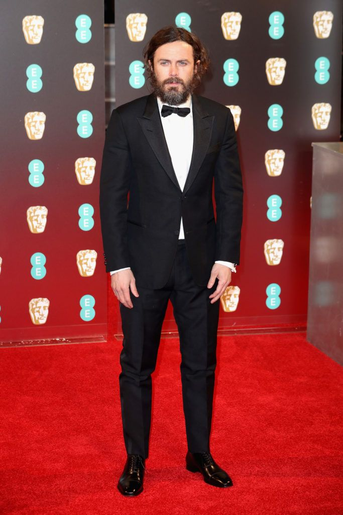 LONDON, ENGLAND - FEBRUARY 12:  Casey Affleck attends the 70th EE British Academy Film Awards (BAFTA) at Royal Albert Hall on February 12, 2017 in London, England.  (Photo by Chris Jackson/Getty Images)