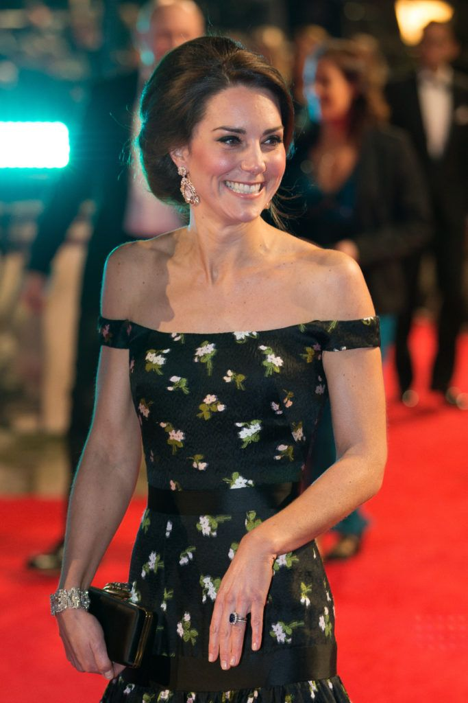 LONDON, ENGLAND - FEBRUARY 12:  Catherine, Duchess of Cambridge attends the 70th EE British Academy Film Awards (BAFTA) at the Royal Albert Hall on February 12, 2017 in London, England.  (Photo by Daniel Leal-Olivas- WPA Pool/Getty Images)