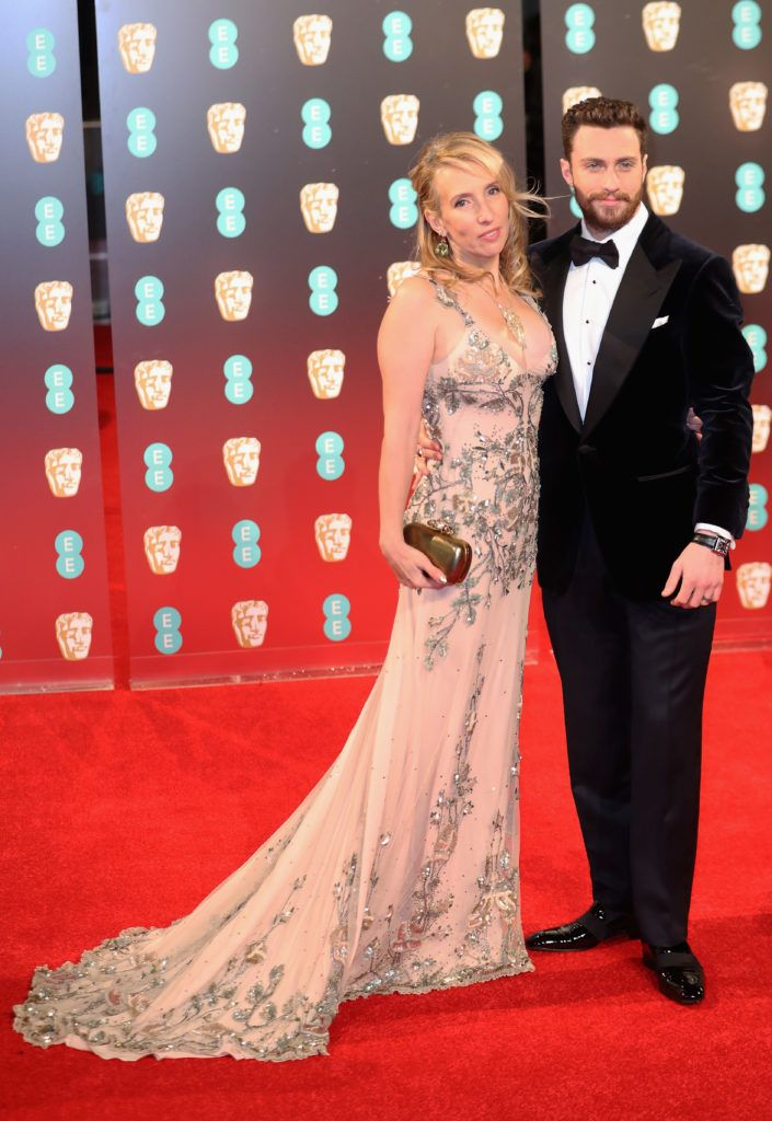 LONDON, ENGLAND - FEBRUARY 12:  Sam Taylor-Johnson and Aaron Taylor-Johnson attend the 70th EE British Academy Film Awards (BAFTA) at Royal Albert Hall on February 12, 2017 in London, England.  (Photo by Chris Jackson/Getty Images)