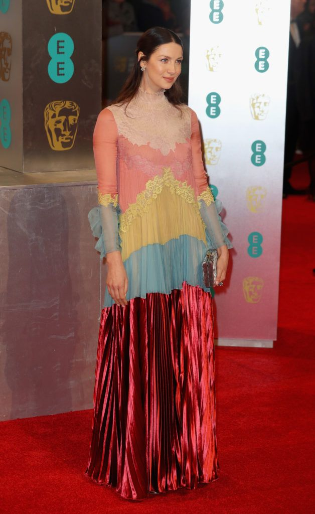 LONDON, ENGLAND - FEBRUARY 12:  Caitriona Balfe attends the 70th EE British Academy Film Awards (BAFTA) at Royal Albert Hall on February 12, 2017 in London, England.  (Photo by Chris Jackson/Getty Images)