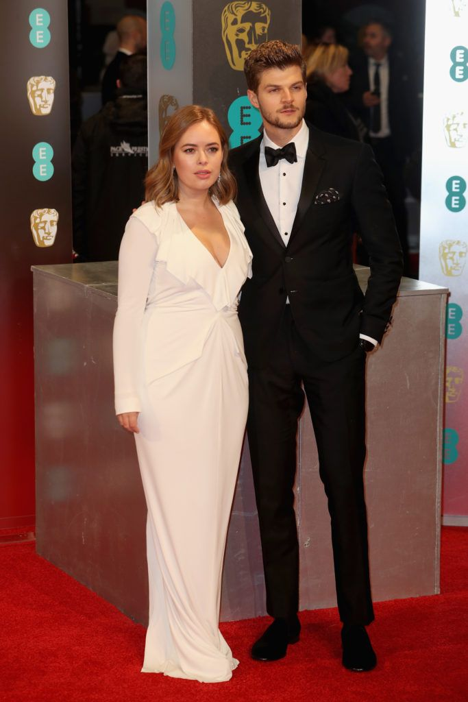 LONDON, ENGLAND - FEBRUARY 12:  Tanya Burr and Jim Chapman attend the 70th EE British Academy Film Awards (BAFTA) at Royal Albert Hall on February 12, 2017 in London, England.  (Photo by Chris Jackson/Getty Images)