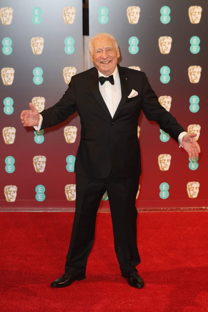 LONDON, ENGLAND - FEBRUARY 12:  Mel Brooks attends the 70th EE British Academy Film Awards (BAFTA) at Royal Albert Hall on February 12, 2017 in London, England.  (Photo by Chris Jackson/Getty Images)