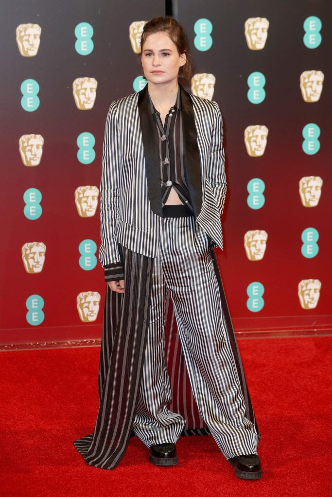 LONDON, ENGLAND - FEBRUARY 12:  Heloise Letissier aka Christine and the Queens attends the 70th EE British Academy Film Awards (BAFTA) at Royal Albert Hall on February 12, 2017 in London, England.  (Photo by Chris Jackson/Getty Images)