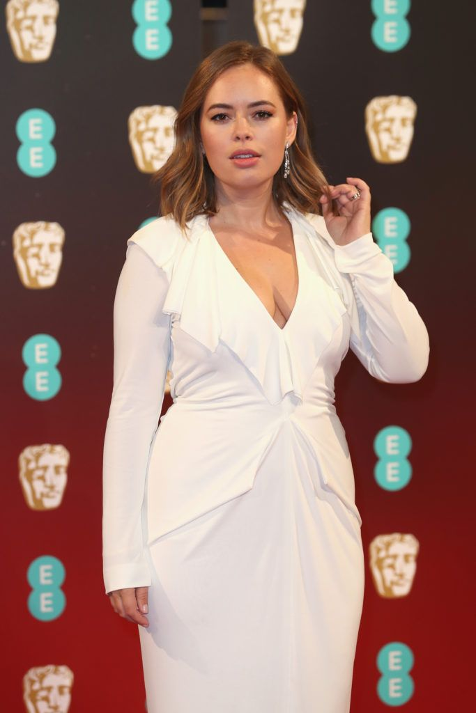 LONDON, ENGLAND - FEBRUARY 12:  Tanya Burr attends the 70th EE British Academy Film Awards (BAFTA) at Royal Albert Hall on February 12, 2017 in London, England.  (Photo by Chris Jackson/Getty Images)