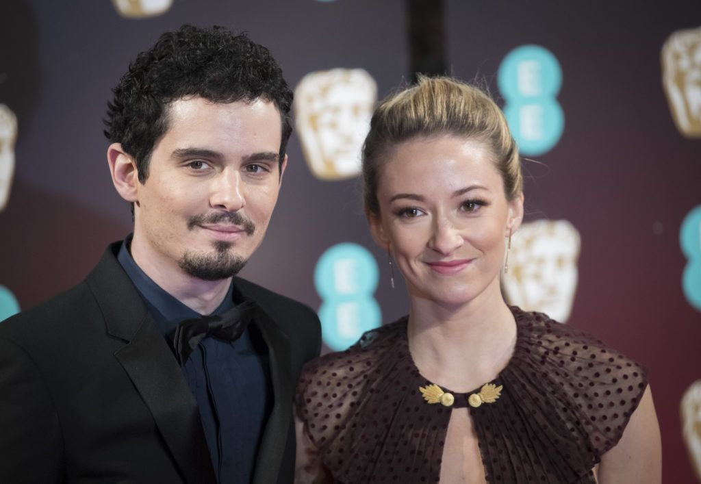LONDON, ENGLAND - FEBRUARY 12: Damien Chazelle, Olivia Hamilton attend the 70th EE British Academy Film Awards (BAFTA) at Royal Albert Hall on February 12, 2017 in London, England.  (Photo by John Phillips/Getty Images)