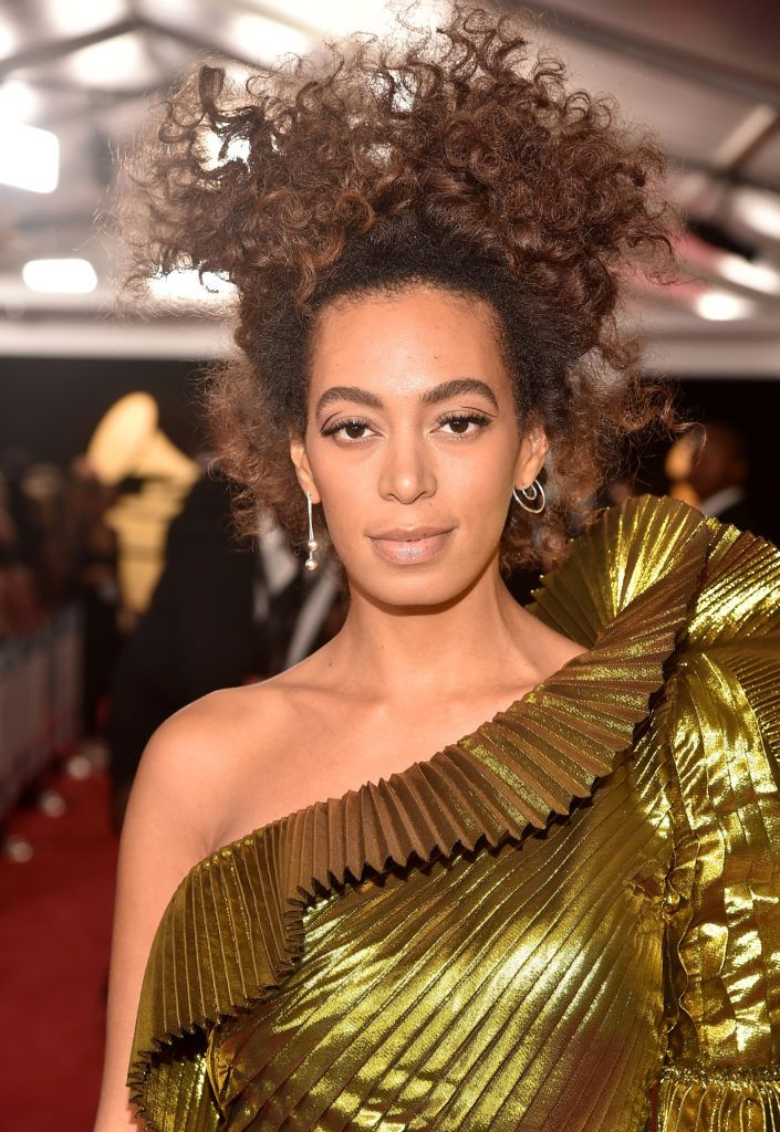 LOS ANGELES, CA - FEBRUARY 12:  Singer/Songwriter Solange Knowles attends The 59th GRAMMY Awards at STAPLES Center on February 12, 2017 in Los Angeles, California.  (Photo by Alberto E. Rodriguez/Getty Images for NARAS)