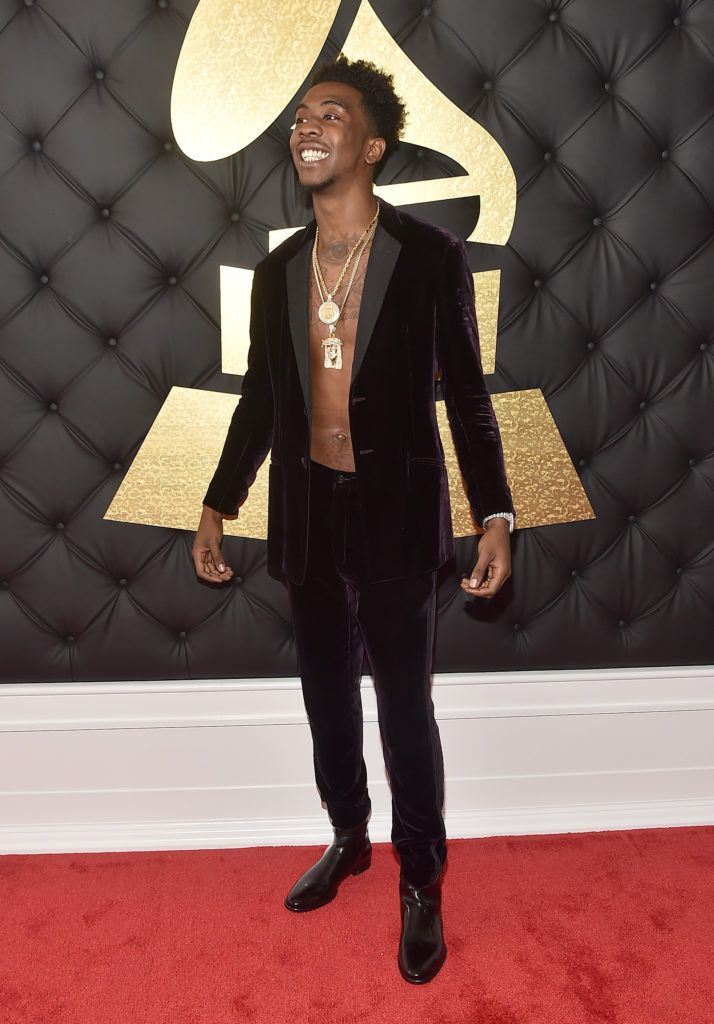 LOS ANGELES, CA - FEBRUARY 12: Rapper Desiigner attends The 59th GRAMMY Awards at STAPLES Center on February 12, 2017 in Los Angeles, California.  (Photo by Alberto E. Rodriguez/Getty Images for NARAS)