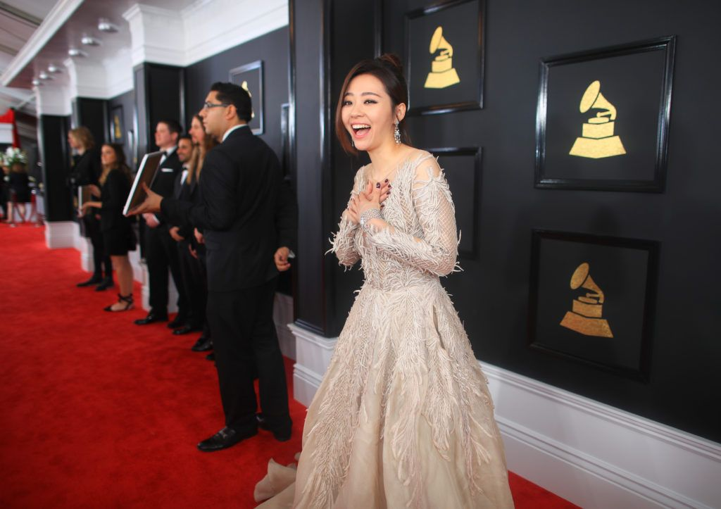 LOS ANGELES, CA - FEBRUARY 12:  Singer Jane Zhang attends The 59th GRAMMY Awards at STAPLES Center on February 12, 2017 in Los Angeles, California.  (Photo by Christopher Polk/Getty Images for NARAS)