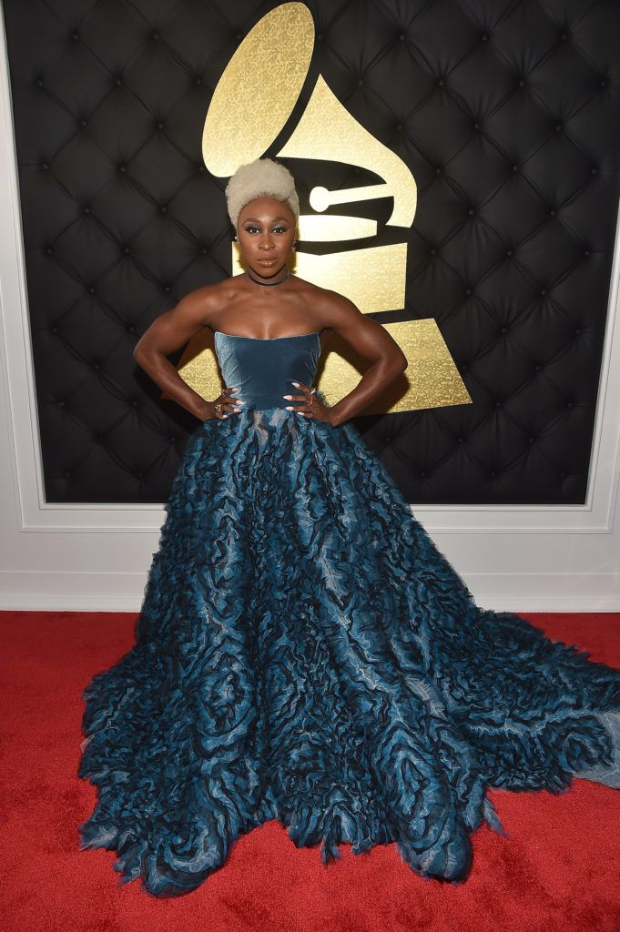 LOS ANGELES, CA - FEBRUARY 12:  Actress Cynthia Erivo attends The 59th GRAMMY Awards at STAPLES Center on February 12, 2017 in Los Angeles, California.  (Photo by Alberto E. Rodriguez/Getty Images for NARAS)