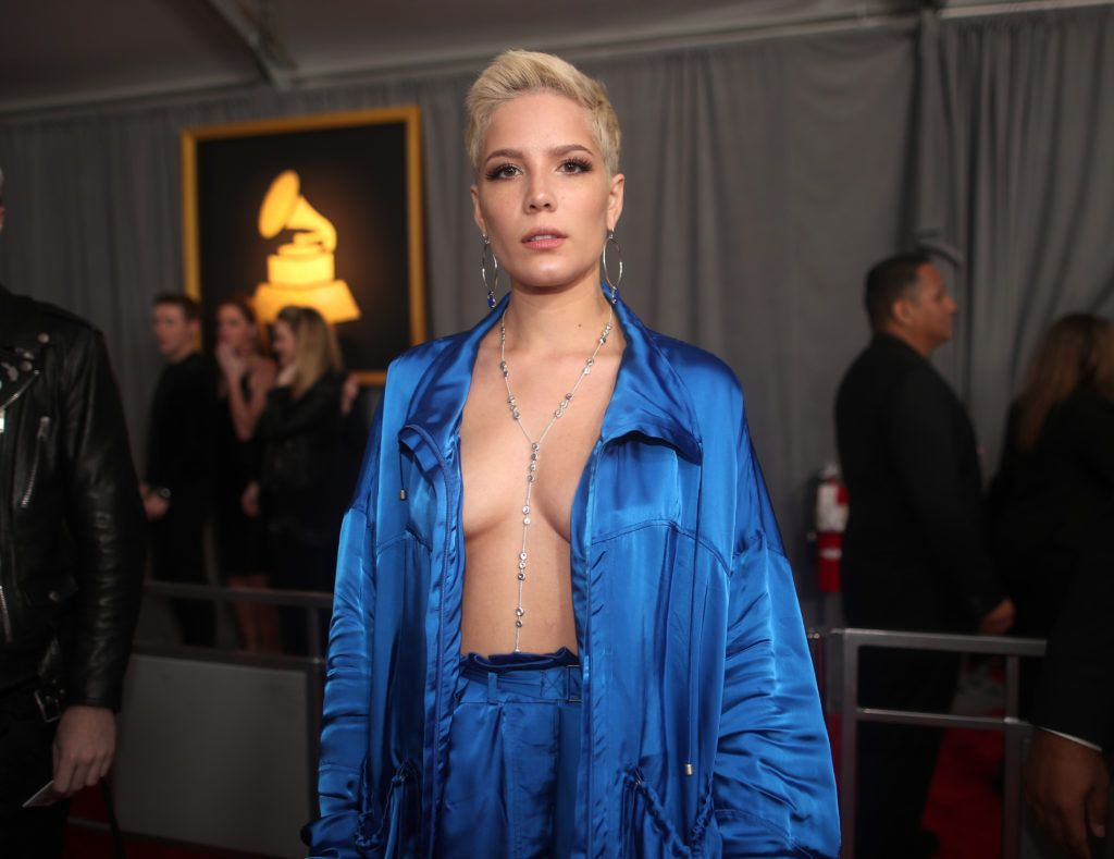 LOS ANGELES, CA - FEBRUARY 12:  Singer Halsey attends The 59th GRAMMY Awards at STAPLES Center on February 12, 2017 in Los Angeles, California.  (Photo by Christopher Polk/Getty Images for NARAS)