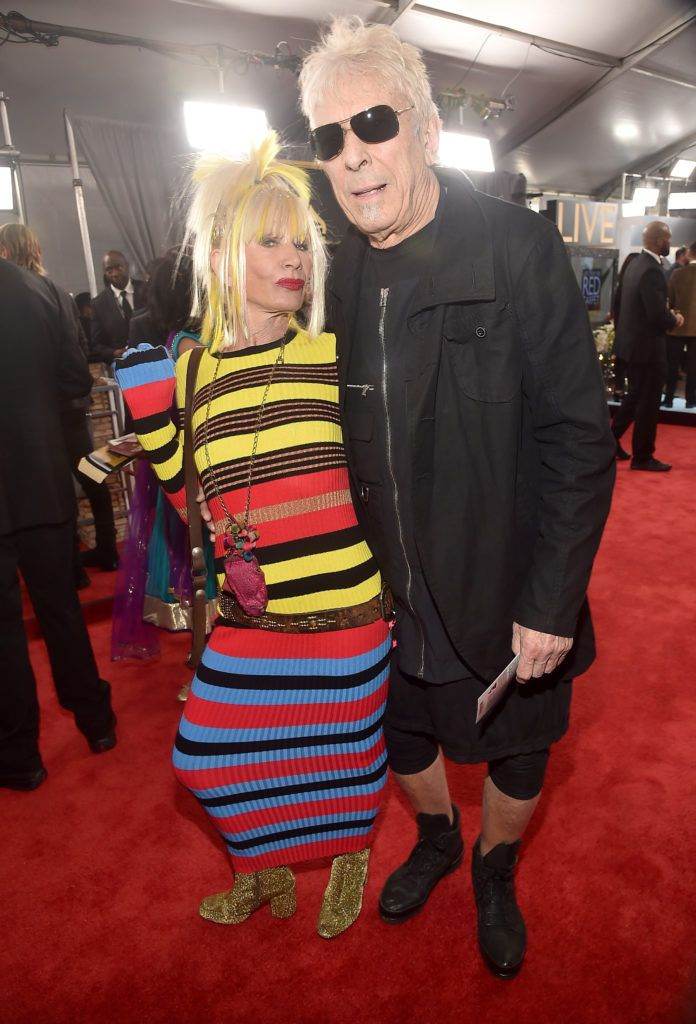 LOS ANGELES, CA - FEBRUARY 12: Designer Betsey Johnson and Brian Reynolds attend The 59th GRAMMY Awards at STAPLES Center on February 12, 2017 in Los Angeles, California.  (Photo by Alberto E. Rodriguez/Getty Images for NARAS)
