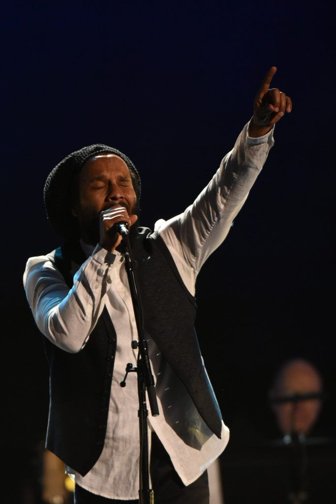 Reggae Singer Ziggy MArley performs onstage during the 59th Annual Grammy music Awards pre-telecast on February 12, 2017, in Los Angeles, California. (Photo VALERIE MACON/AFP/Getty Images)