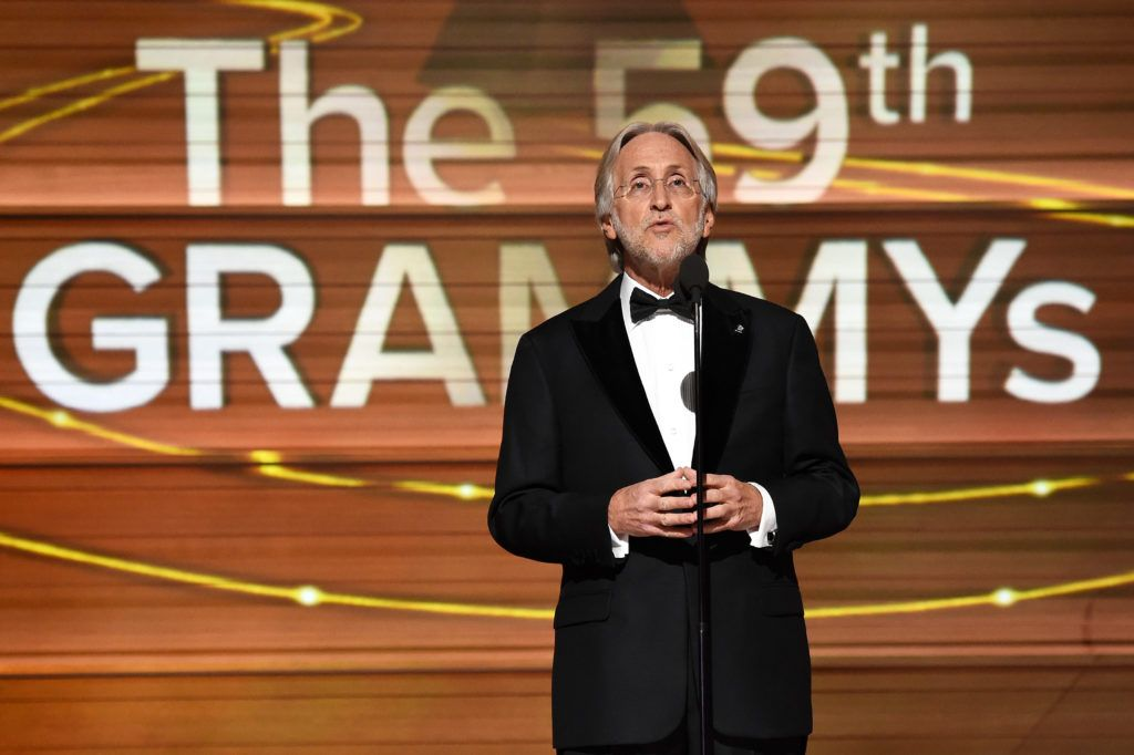LOS ANGELES, CA - FEBRUARY 12:  President/CEO of The Recording Academy and GRAMMY Foundation President/CEO Neil Portnow speaks onstage during The 59th GRAMMY Awards at STAPLES Center on February 12, 2017 in Los Angeles, California.  (Photo by Michael Kovac/Getty Images for NARAS)