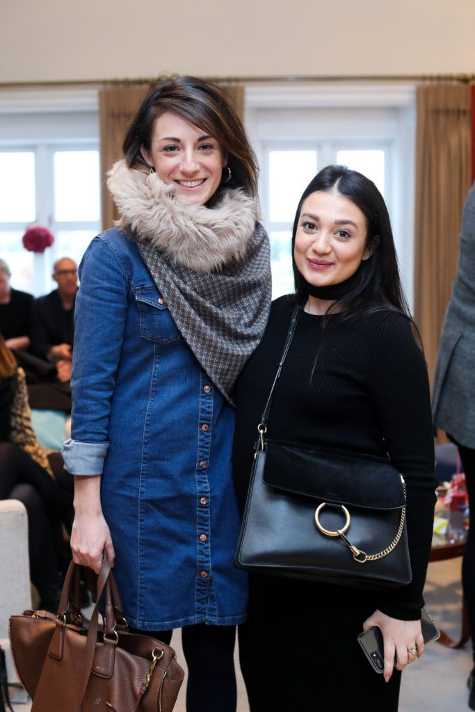 Sarah Geraghty and Giovanna Borza pictured at the New Season launch at Kildare Village on Thursday, 9th February. Photo by Maxwell Photography.