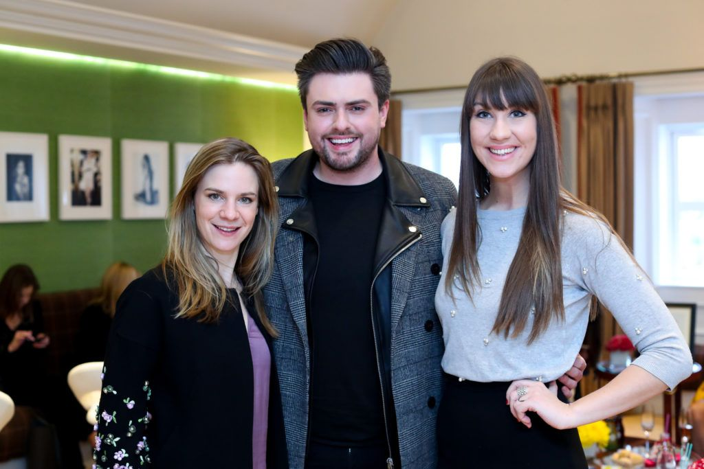 Julia Wilkes,James Patrice and Clementine Mac Niece pictured at the New Season launch at Kildare Village on Thursday, 9th February. Photo by Maxwell Photography.