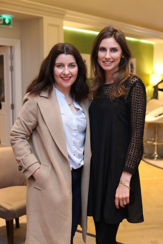 Shauna O'Halloran and Ciara O'Callaghan  pictured at the New Season launch at Kildare Village on Thursday, 9th February. Photo by Maxwell Photography.
