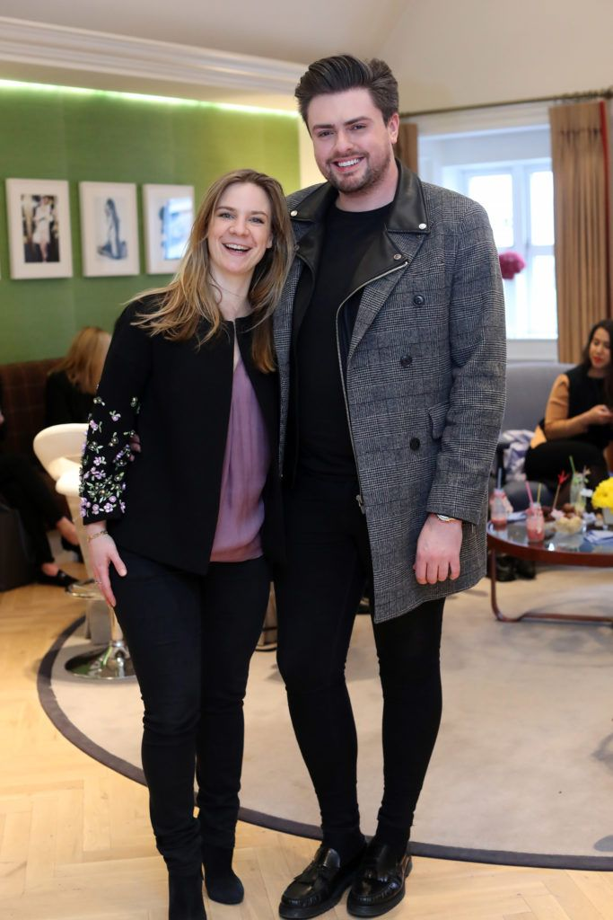 Julia Wilkes and James Patrice pictured at the New Season launch at Kildare Village on Thursday, 9th February. Photo by Maxwell Photography.