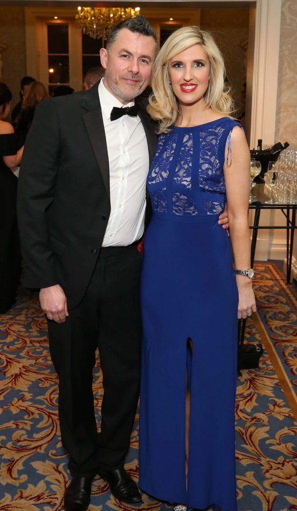 Mark and Sinead Quinn, pictured at the Nesta sponsored ISPCC Valentines Ball held in the Shelbourne Hotel. Pic. Robbie Reynolds